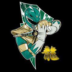 Green Ranger/Dragon Ranger - Play Us A Mighty Tune - Neatorama