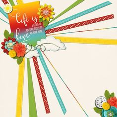 Life is. Team Page, Digital Scrapbooking, How To Find Out, Bird, Gallery, Sweet, Creative, Design, Roof Rack