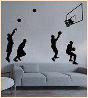 wall sticker wall mural Sport Basketball-Basketball shot