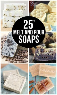 Homemade soap is fun and easy. Soap making isn't complicated since you can easily make your own soap without lye. Homemade bar soap makes great gifts too. Make your own DIY soap with rosemary. Handmade Soap Recipes, Soap Making Recipes, Handmade Soaps, Diy Soaps, Soap Melt And Pour, Charcoal Soap, Homemade Deodorant, Soap Making Supplies, Soap Making Kits