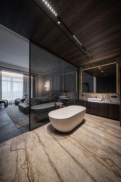 Apartment Projects, Apartment Interior, Bathroom Interior, Beautiful Modern Homes, Minimal Bathroom, Living Room Windows, Classic Interior, Luxurious Bedrooms, Custom Furniture