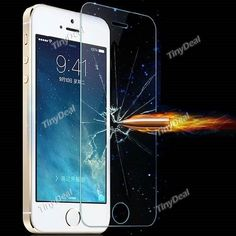 0.26mm Glass Screen Protector Guard Transparent for Apple iPhone 5s/ 5c/ 5