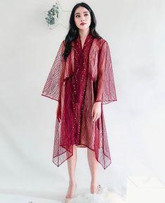 Model Dress Batik, Batik Dress, Lace Dress, Dress Muslim Modern, Kebaya Modern Dress, Dress Brokat, Dress Outfits, Fashion Outfits, Tunic Designs