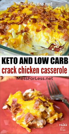 This Keto Crack Chicken Casserole is addictive! Cheese and bacon combine with chicken in this creamy low carb dish. This Keto Crack Chicken Casserole is addictive! Cheese and bacon combine with chicken in this creamy low carb dish. Low Carb Recipes, Diet Recipes, Healthy Recipes, Recipies, Low Carb Chicken Recipes, Low Carb Chicken Dinners, Casseroles With Chicken, Meals With Chicken, Keto Recipes With Bacon