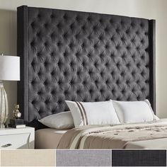 Naples Wingback Button Tufted Tall Headboards by iNSPIRE Q Artisan   Overstock.com Shopping - The Best Deals on Headboards