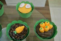 Cupcakes com cenouras - páscoa.