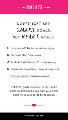 Four Reasons Why S.M.A.R.T. Goals Aren