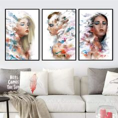 Give any open wall in your home a tasteful touch of glamour with this painting print. This showcases a contemporary design featuring women with an abstract design. Canvas Prints Canvas prints are a fun and easy way to add a personal touch to your living space. Shop our unstretched canvas prints for local custom framing. This allows you to frame or hang your print to your own specifications. Packaging, Material and Size Canvas prints do not include a stretcher bar or picture frame. It will… Painting Prints, Canvas Prints, Framed Art, Framed Prints, Canvas Frame, Fine Art Paper, Graphic Art, Picture Frames, Open Wall