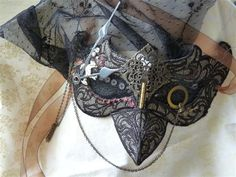 Raven steampunk mask