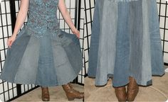 Neat idea for up-cycling denim jeans - have already done this one - must upload pics!