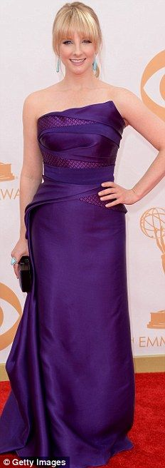 Purple passion: Mindy Kaling, Tv host Tea Andrews, Allison Janney and Big Bang Theory actress Melissa Rauch looked stylish in different versions of the same colour