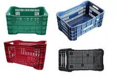 caixa plástica agrícola - hortifruti - 60x40 55x36x31 cores