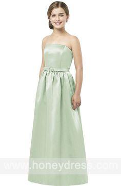A-line #Strapless  #Satin Floor-length  #Junior #Bridesmaid  #Dresses 07015  $74.60  Find it here.... http://honeydress.com/b/a-line-strapless-satin-floor-length-junior-bridesmaid-dresses-07015.html?utm_source=SNS%5FSource_medium=SNS%5FPinterest_term=Pinterest_campaign=Pinterest%5FPost_nooverride=1...
