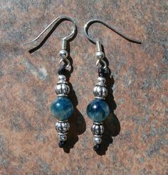 Blue Kyanite EarringsPromotes loyalty, peace, honesty & serenity Cuts through fears and blockages Aligns the chakras Aids in deepening meditation, dreaming, psychic abilities and energy work http://zenjewelry.mysticnaturals.com/blue-kyanite-earrings/