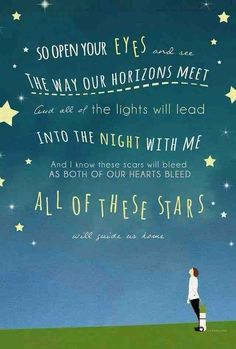 """""""All of the Stars""""-Ed Sheeran Tfios Sound Of Music, Music Love, Love Songs, Music Is Life, Song Lyric Quotes, Music Quotes, Music Lyrics, Quotes From Movies, Lyric Art"""