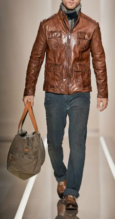 Delicious Brown leather jacket