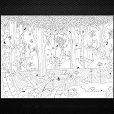 Hide & Seek Mr Perswall P120102-8 обои-раскраска