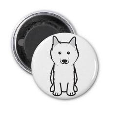 American Eskimo Dog Cartoon Fridge Magnets