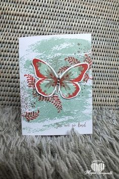 Magical Scrapworld: You are so kind, Stampin' Up!, watercolor wash, watercolor wings, awesomely artistic