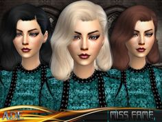 The Sims Resource: Ade – Miss Fame • Sims 4 Downloads