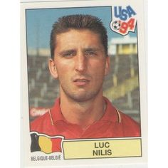 Image result for usa 94 panini belgique luc nilis Fifa World Cup, Albums, Baseball Cards, Stickers, Game, Usa, Beautiful, Picture Cards, Belgium