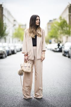 Move over skinny jeans, the wide-leg trouser has taken over my closet. Office Outfits, Work Outfits, Street Chic, Street Style, Phillip Lim Bag, Hippie Bracelets, Cami Tops, Outfit Posts, Girl Boss