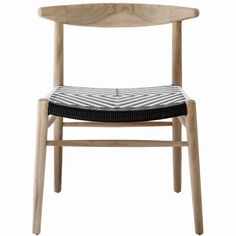 Horn Dining Chair – Black and White Polymer