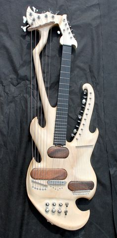 Electric Harp Guitar. Awesome