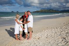 Love this family picture at a vow renewal on the beach. AinaKai Photography: Hawaii Wedding & Lifestyle Photography blog: Vow Renewal on Kailua Beach, Oahu