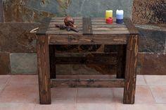 Mesa de terraza con madera de palets reciclada