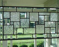 Stained Glass Panel tableau arrière fenêtre bleu par TheGlassShire