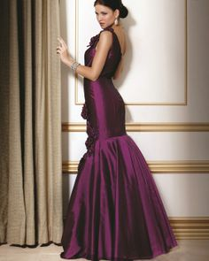 osell wholesale dropship Mermaid One Shoulder Taffeta Floor Length Evening Sexy Prom Dress $61.25