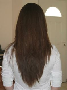 Remarkable Long Layered Hair V Shape Back View Google Search Hair Hairstyles For Women Draintrainus
