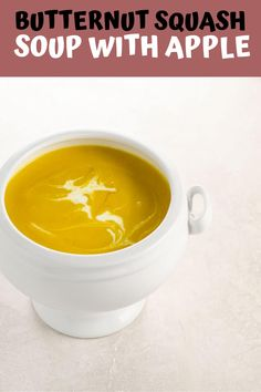 Classic butternut squash soup with apple somehow manages to be both the ultimate in comfort and totally elegant at the same time. Make it in the instant pot or on the stovetop. Instapot Soup Recipes, Quick Soup Recipes, Creamy Soup Recipes, Broccoli Soup Recipes, Beef Soup Recipes, Fall Soup Recipes, Cauliflower Soup Recipes, Soap Recipes, Kale Soup