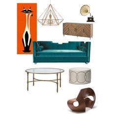 Mid Century Modern Cat by basschick6694 on Polyvore featuring polyvore, interior, interiors, interior design, home, home decor, interior decorating, BD Fine and modern
