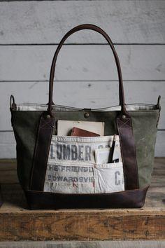 WWII era Canvas & Lumber Apron Weekend Bag