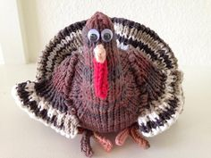 Thanksgiving knitting patterns: American Turkey by Suzanne Wadsworth, download on LoveKnitting