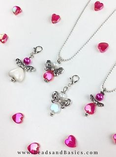 Love Making Angels With Beads - GIFT TIP - Beads & Basics - DIY tutorial - Handmade lucky angels charms - heart beads - Valentine love idea
