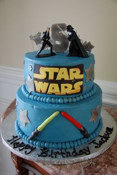 Darth Vader Happy Birthday Cake A stars wars theme for this