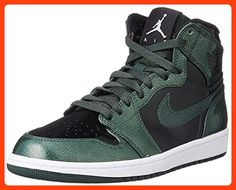 63f993f68cb Nike Jordan Men s Air Jordan 1 Retro High Grove Green Black White Basketball  Shoe 11 Men US ( Partner Link)
