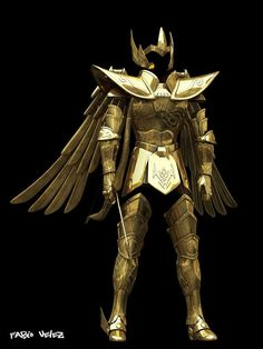 Las 2 armaduras doradas reales19