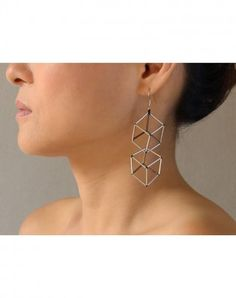 MCE Kubus Long earring | Vulantri Shop Contemporary Jewelry & Accessories