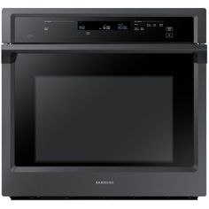 Samsung Premium Self Cleaning Convection Single Electric Wall Oven (Bl