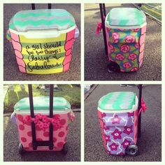 My painted cooler!
