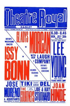 Vintage Theatre Poster - Theatre Royal - Hanley - London