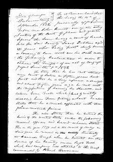 The Kith and Kin Chronicles: Amanuensis Monday - Jacob Dobkins' Revolutionary War Service - Lanham Line