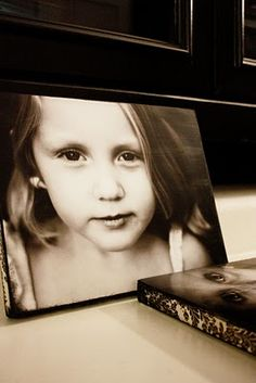 DIY Photos on Canvas. This is a really great, inexpensive idea!