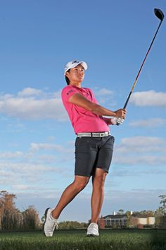 Yani Tseng BOMBS the ball. Here's a detailed look at the most dominant swing in golf. Golf Attire, Golf Outfit, Golf Swing Speed, Golf Books, Golf Party, Golf Instruction, Perfect Golf, Hole In One, Golf Fashion