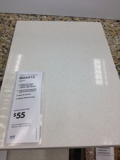 An Affordable And Innocuous Countertop Option: Ikeau0027s Eggshell Quartz.