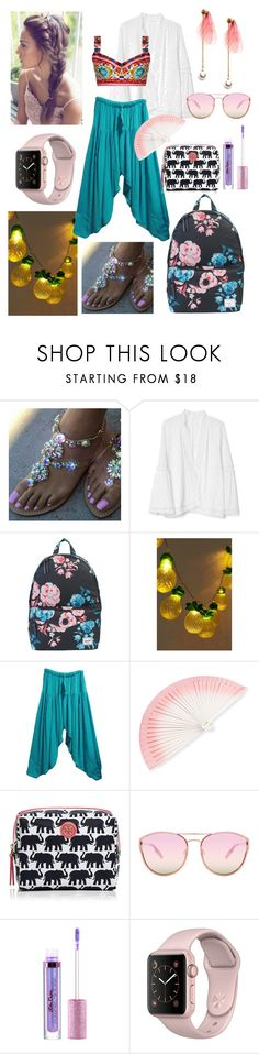 """""""I had a dream in India"""" by kmyuko on Polyvore featuring ファッション, Gap, Herschel Supply Co., Urban Outfitters, Dolce&Gabbana, FernFans, Tory Burch, Quay と Lime Crime"""